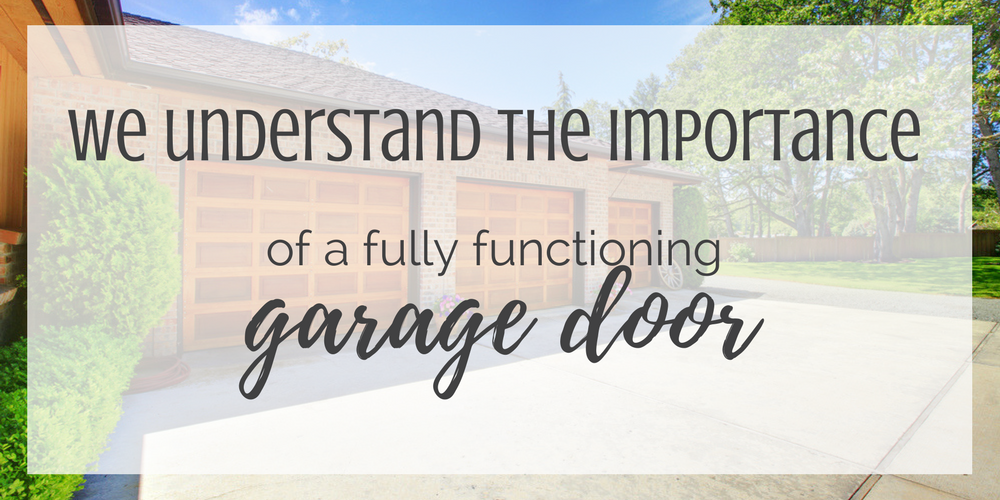 we understand the importance of functioning garage doors in bluffdale